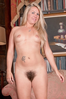 Elle MacQueen strips naked in her private study
