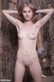 Nancy is a tender blonde with big young boobs