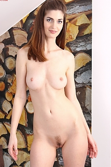 Tall college girl Nikky strips naked and fingers her pretty ...